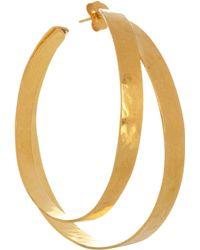 Herve Van Der Straeten Hammered Goldplated Earrings - Lyst