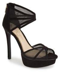 Jessica Simpson 'Ceyanna' Platform Sandal black - Lyst