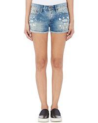 NSF - Paint-splattered \slouchy Short\ Shorts - Lyst