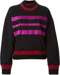 Jonathan Saunders Striped Sweater - Lyst