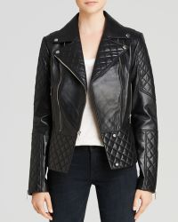 Dawn Levy - Dl2 By Dakota Quilted Leather Moto Jacket - Lyst