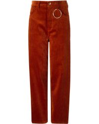 Hyein Seo - Ring-Detail Cotton-Corduroy Trousers - Lyst