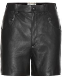 Saint Laurent Leather Shorts - Lyst