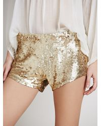 Free People Womens Katrin Sequin Short - Lyst