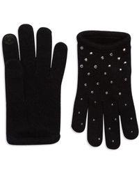 Portolano Black Studded Gloves - Lyst