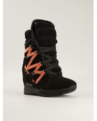DSquared2 Strappy Hi Top Sneakers - Lyst