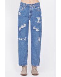 Denim Refinery - Medium Wash Boyfriend Jeans - Lyst