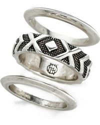 House of Harlow 1960 - Shakti Midi Ring Stack - Silver Multi - Lyst