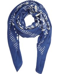 Barneys New York Bandana-Print Twill Scarf - Lyst