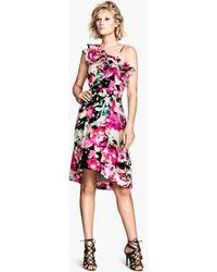 H&M Frilled Dress - Lyst