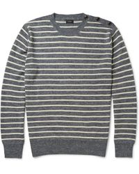 J.Crew Babylon Striped Knitted Sweater - Lyst