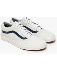 Vans Old Skool In Matte Leather - Lyst