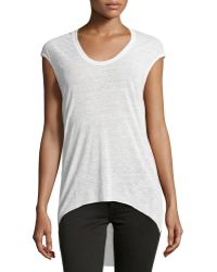 Helmut Lang Cowl-Back High-Low Tee - Lyst