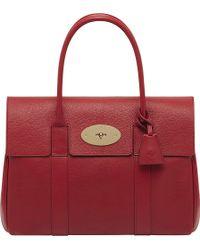 Mulberry Bayswater Glossy Goat Leather Handbag Poppy Red - Lyst