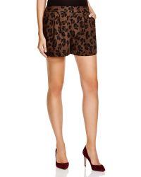 Essentiel - Pop That Poppy Leopard Print Shorts - Lyst
