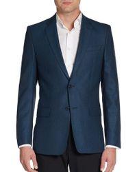 Versace Regularfit Pure Virgin Wool Twobutton Blazer - Lyst