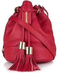 See By Chloé Vicki Grained-Leather Mini Bucket Bag - Lyst