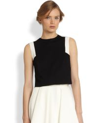 Torn Delilah Two-tone Cropped Top - Black