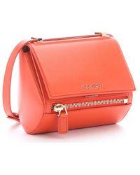 Givenchy Coral Leather 'Pandora' Mini Shoulder Box Bag - Lyst