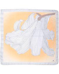 Rena Lange Square Scarf - Orange