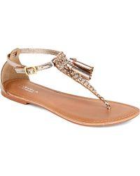 Carvela Kurt Geiger Kettle Metallic Leather Sandals - For Women gold - Lyst