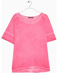 Violeta by Mango Mixed Cotton-Blend T-Shirt - Lyst