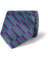 Turnbull & Asser Woven Stripe Silksatin Tie - Lyst