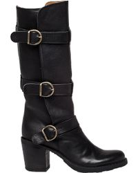 Fiorentini + Baker | Lety Buckled Leather Knee-High Boots | Lyst