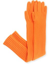 Michael Kors Cashmere Ribbed Gloves - Lyst