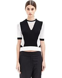 Damir Doma Womens Kinell Short Sleeve Knit Top - Lyst