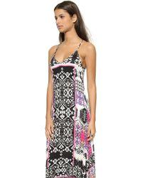 Felicite - Tribal Print Maxi Dress - Pink - Lyst