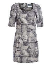 Antipodium Garamond Black & Grey Tapestry Dress
