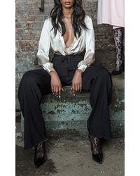 Houghton - Lyra Silk Charmeuse Bodysuit - Lyst