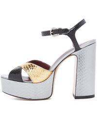 Marc By Marc Jacobs Jerry Platform Sandals - Metallic