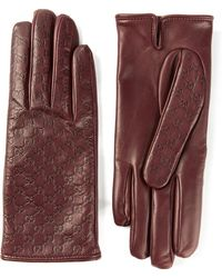 Gucci Embossed Logo Gloves - Lyst