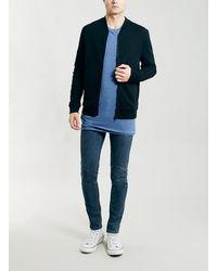 Topman Petrol Blue Stretch Skinny Jeans - Lyst