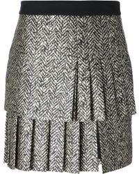 Emanuel Ungaro Pleated Skirt - Lyst