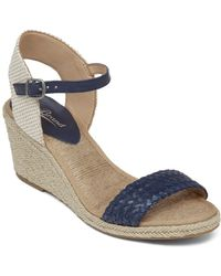 Lucky Brand Espadrille Wedge Sandals - Kavelli Woven - Blue