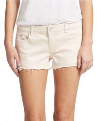 Sl8 Frayed Denim Shorts - Pink