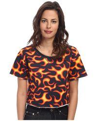 Love Moschino Cropped Flame Sweatshirt - Lyst