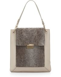 Jason Wu Christy Sectional Leather Shopper Tote Bag brown - Lyst