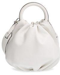 Loewe Women'S 'Small Bounce' Lambskin Shoulder Bag - Ivory - Lyst