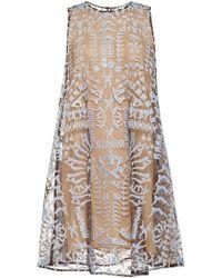 Mary Katrantzou Evabar Embroidered Glitter Dress - Lyst