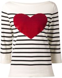Marc Jacobs Breton Sequin Heart Sweater - Lyst