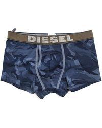 Diesel Divine Blue Camouflage Printed Boxers blue - Lyst