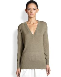 TOME V-Neck Wool Sweater - Lyst
