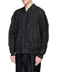 3.1 Phillip Lim Quilted Silk Harrington Jacket - Lyst