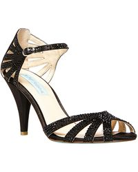 Betsey Johnson Sweet Crystallized Synthetic Heels - Lyst