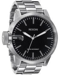 Nixon Black Steel Tu Bracelet Chronicle Watch - Lyst