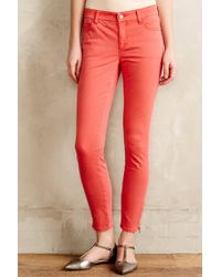 Pilcro Serif Sateen Zip Jeans - Lyst